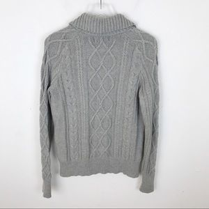 Eddie Bauer Sweaters - Eddie Bauer Grey Cable Knit Pullover Wool Sweater